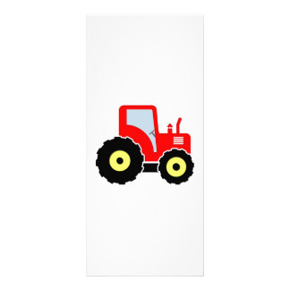 Red toy tractor rack card