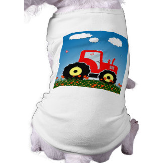 Red toy tractor shirt
