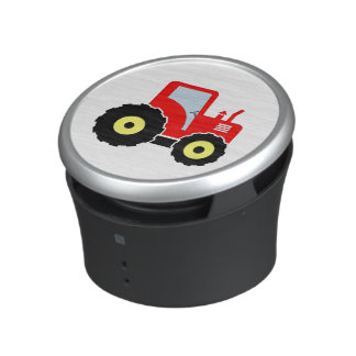 Red toy tractor speaker