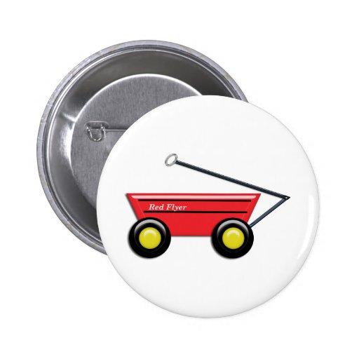 Red Toy Wagon 2 Inch Round Button