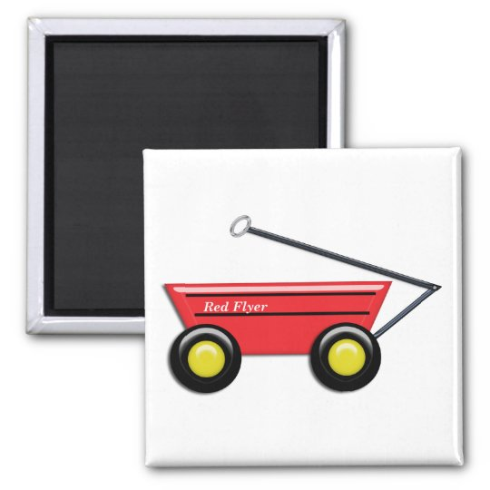 Red Toy Wagon Magnet