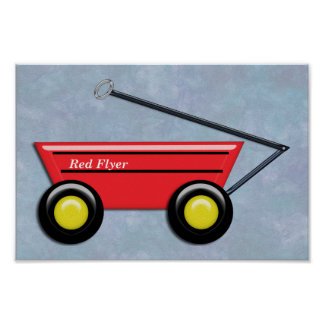 Red Toy Wagon Print