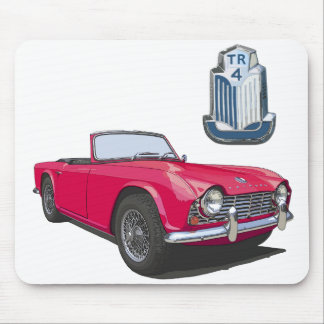 Red TR4 Mouse Pad