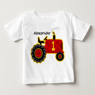 Red Tractor 1st Birthday Personalized Tshirts