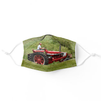 Red Tractor Adult Cloth Face Mask