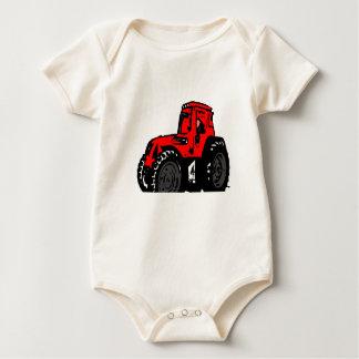 Red Tractor Baby Bodysuit