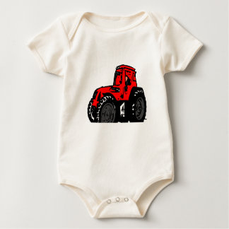 Red Tractor Baby Bodysuit