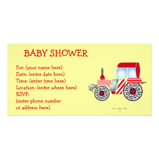 Red Tractor Baby Shower Card