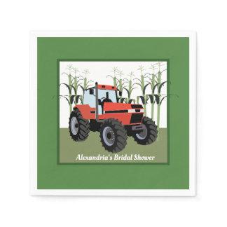Red Tractor Bridal Shower Napkins