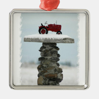 Red Tractor Christmas Ornament