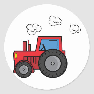 Red Tractor Classic Round Sticker