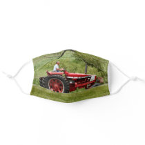 Red Tractor Cloth Face Mask