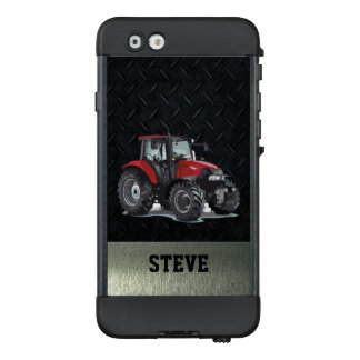 Red Tractor Diamond Plate Phone Case