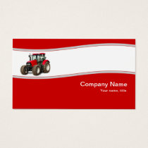 Red Tractor - Farm Supply Business Card