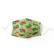 Red Tractor Farmer Pattern Cloth Face Mask