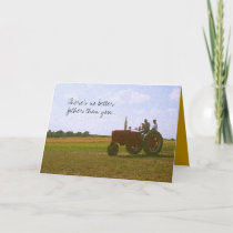 Red Tractor Father's Day Card