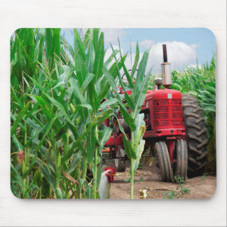 Red Tractor in Cornfield Mouse Pad