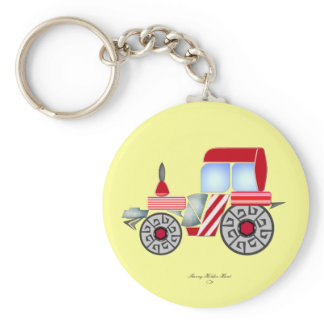 Red Tractor Key Ring