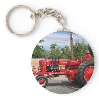 Red Tractor Keychain