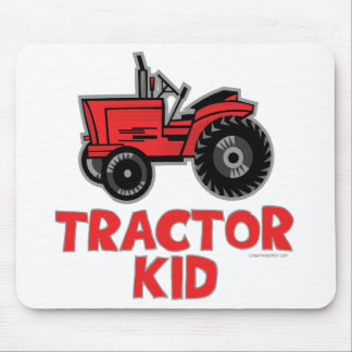 Red Tractor Kid Mouse Pad