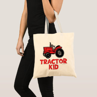 Red Tractor Kid Tote Bag