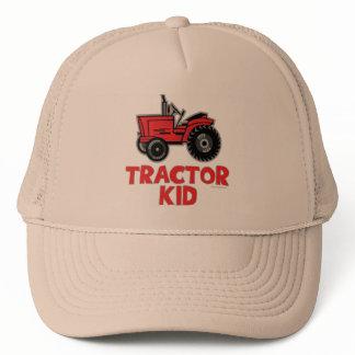 Red Tractor Kid Trucker Hat