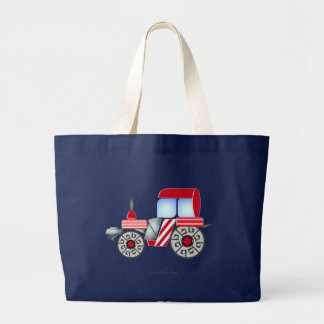 Red Tractor Large Tote Bag