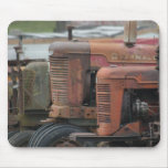 Red Tractor Lineup Mousepad