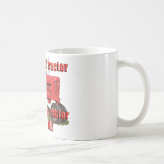 red_tractor_love classic white coffee mug