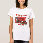 red_tractor_love T-Shirt