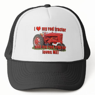 red_tractor_love trucker hat
