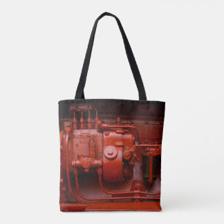 Red Tractor Motor Tote Bag
