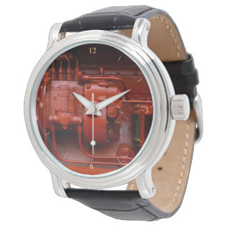 Red Tractor Motor Wrist Watch