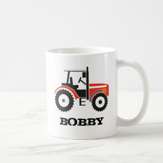 Red Tractor Mug With Name