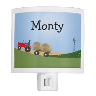 Red Tractor Night Light