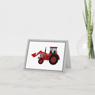 Red Tractor Note Card