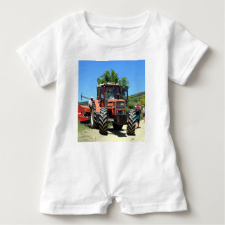 Red Tractor on El Camino, Spain Baby Romper
