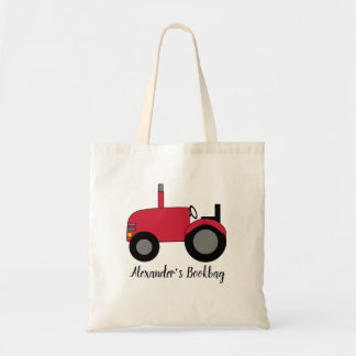 Red Tractor Personalize Tote Bag