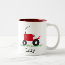 Red Tractor Personalized Mug