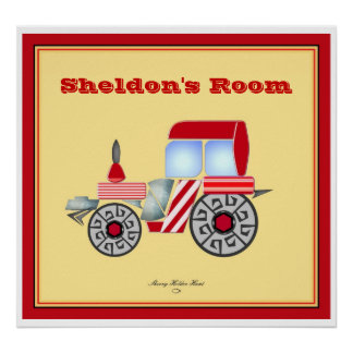 Red Tractor Print