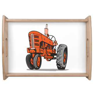 RED TRACTOR SERVING TRAY