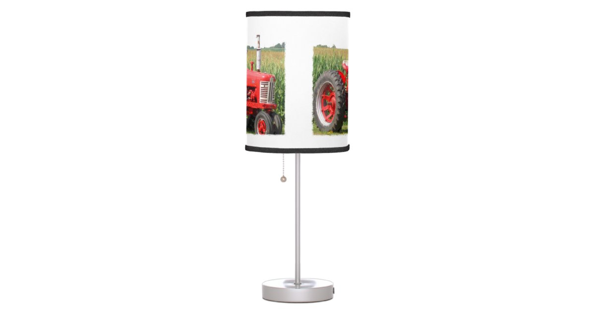 Tractor Lamp Shades : Red tractor table lamp zazzle