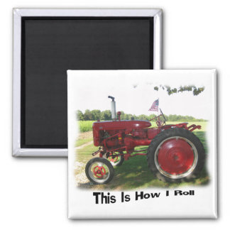 Red Tractor This Is How I Roll Magnet
