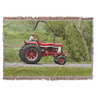 Red Tractor Throw