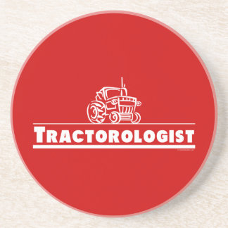 Red Tractor, Tractorologist Beverage Coaster