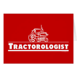 Red Tractor Tractorologist Greeting Card