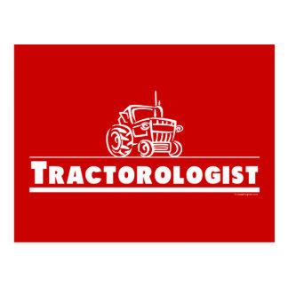 Red Tractor Tractorologist Postcard