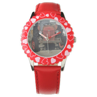 Red Tractor Wristwatch