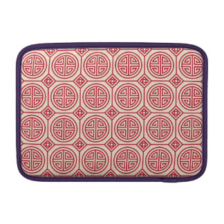 Red Traditional Geometric Chinese Pattern MacBook Sleeve
