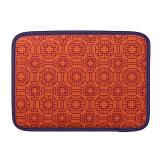 Red Traditional Geometric Chinese Pattern Sleeve For MacBook Air